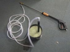 Mattis Wet Sandblast Gun,Lance and Suction hose for wet pressure washer blasting